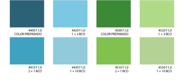 Miksa for Catalogo de colores de pinturas